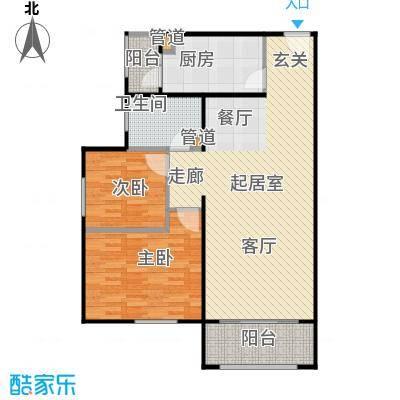 龙河雅居93.63㎡C3户型 93.63平米户型2室2厅1卫