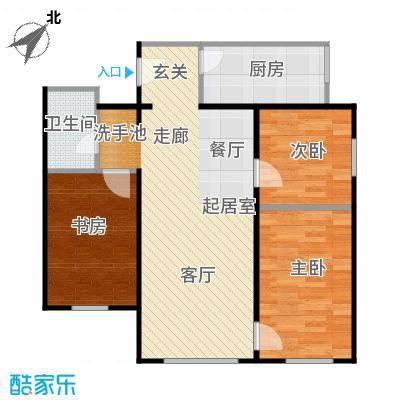 龙河雅居100.03㎡三室一厅100.03平米户型3室1厅1卫