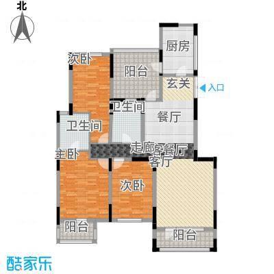 汇置尚都140.00㎡洋房3F户型3室2厅2卫