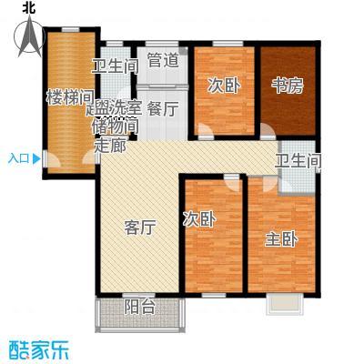 盛世春天四室两厅两卫8#D1户型图户型4室2厅2卫