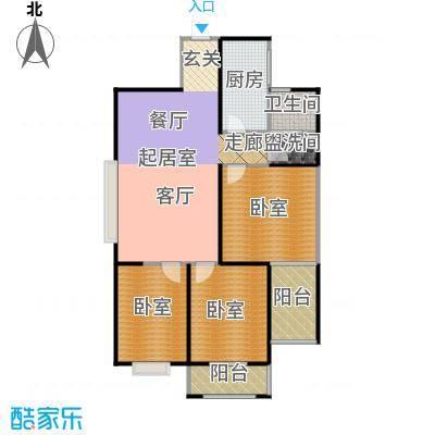 天玺国际101.00㎡101平米三室两厅一卫户型