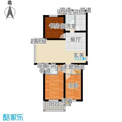 盛世春天三室两厅一卫10#11#A户型图户型3室2厅1卫