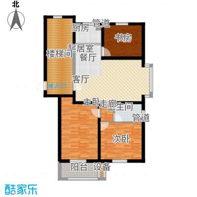 盛世春天三室两厅一卫4#A户型图户型3室2厅1卫