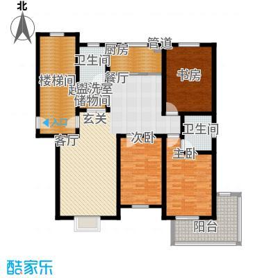 盛世春天三室两厅两卫6#7#C1户型图户型3室2厅2卫