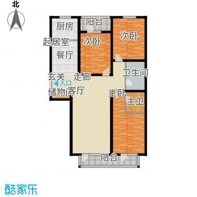 日月天地广场145.74㎡C户型3室2厅户型3室2厅
