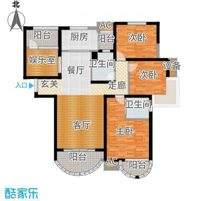 郦城国际户型3室1厅2卫1厨