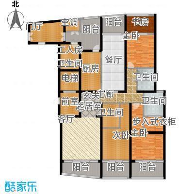 湖滨御景花园五房三厅-255平-91套户型