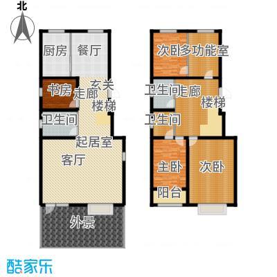 丽景华庭Y1户型四室两厅三卫269.23、276.52平米户型4室2厅2卫
