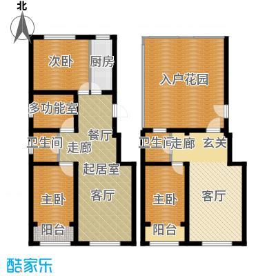 丽景华庭D1户型四室三厅两卫134.62、135.18平米户型4室3厅2卫
