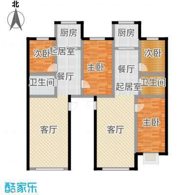 金坤新城花苑C户型-二房二厅一卫-84.76平方米户型2室2厅1卫