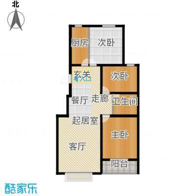 丽景华庭B2户型三室两厅一卫131.27、137.12平米户型3室2厅1卫