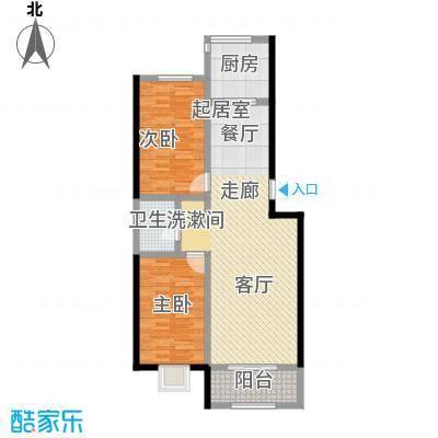 金坤新城花苑户型2室1卫1厨