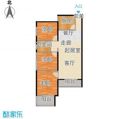 左岸骏景D户型 9# 二室二厅二卫户型2室2厅2卫