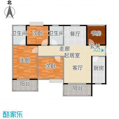 左岸骏景C户型 9# 三室二厅二卫户型3室2厅2卫