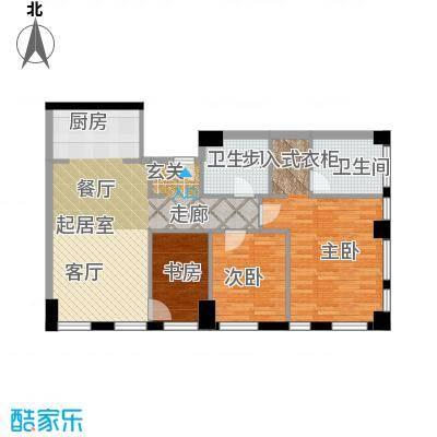 天津科技广场133.00㎡户型C 二室二厅二卫户型2室2厅2卫