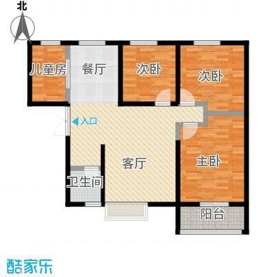 金业缇香山107.00㎡2#C户型3室2厅1卫