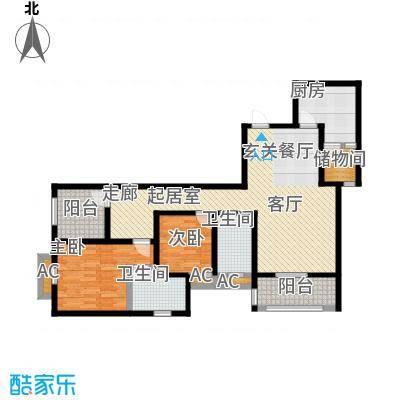 凯江盛世113.85㎡凯江盛世户型图户型2室2厅2卫-T