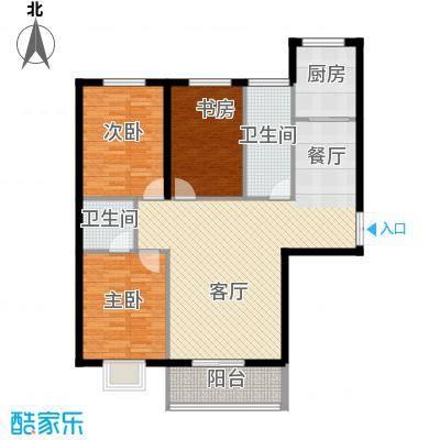 滨海国际135.17㎡C户型3室2厅2卫