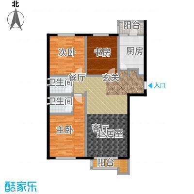 源盛嘉禾114.20㎡G户型3室2卫1厨