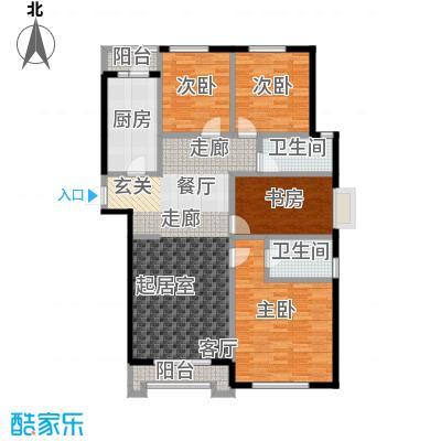 源盛嘉禾123.65㎡C户型4室2厅2卫