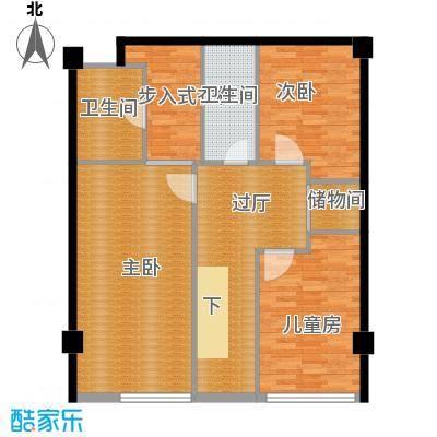 诚基百家湖小公馆102.00㎡挑高59米SOHO公馆顶层户型3室2卫