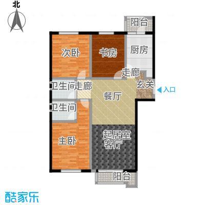 源盛嘉禾142.00㎡高层G户型3室2厅2卫