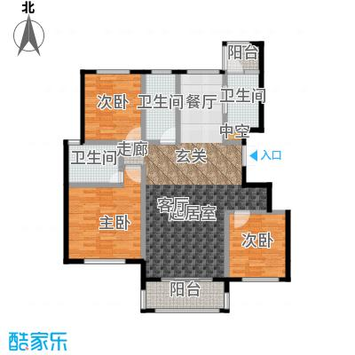 源盛嘉禾132.00㎡小高层N户型3室2厅2卫
