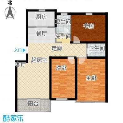 天福城户型3室2卫1厨