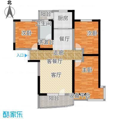 名京公园1号130.06㎡C3户型3室2厅2卫
