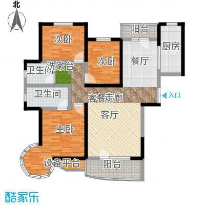 名京公园1号143.52㎡A3户型3室2厅2卫