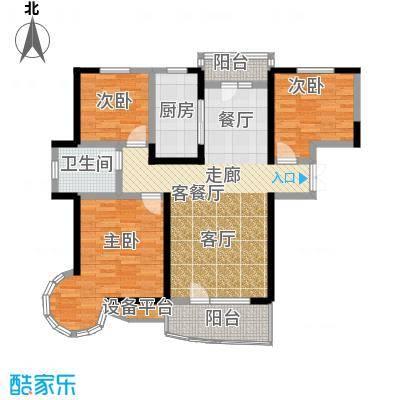 名京公园1号127.49㎡A2户型3室2厅2卫