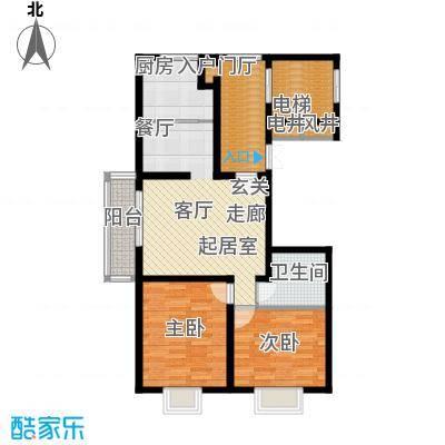 公元209992.53㎡18号楼、20号楼户型2室2厅1卫