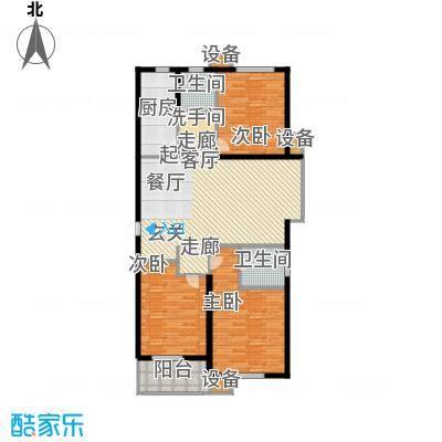 金沃向阳城120.52㎡A1三室两厅两卫户型3室2厅2卫
