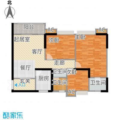 翰城国际-T户型3室3卫1厨