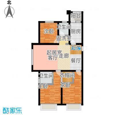 金科廊桥水乡127.31㎡高层C2C4户型3室2厅2卫-T