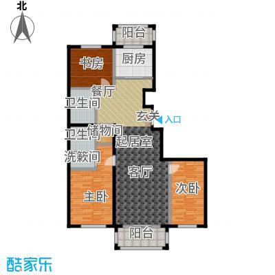 环龙湾户型3室2卫1厨