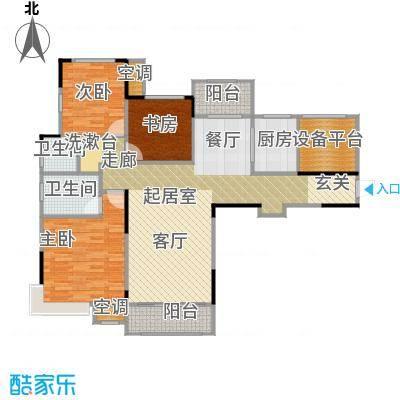 香颂小镇111.00㎡G1户型3室2厅2卫