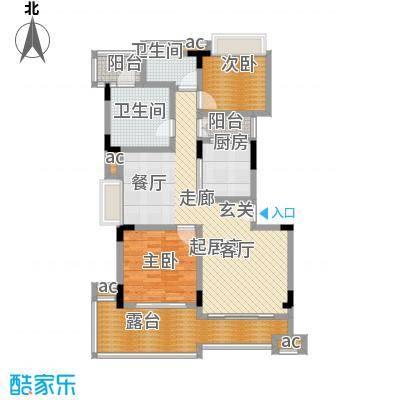 君山公馆98.00㎡A9栋1、4单元5层户型3室2厅1卫