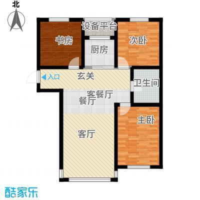 金鼎凤凰城112.00㎡C户型3室2厅1卫1厨 112.00㎡户型3室2厅1卫