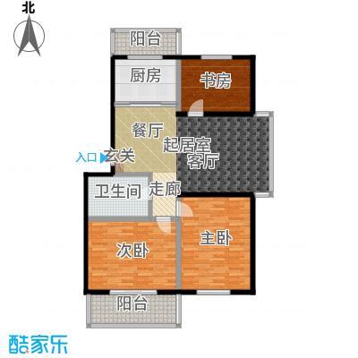 环龙湾户型3室1卫1厨