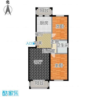 环龙湾户型2室1卫1厨