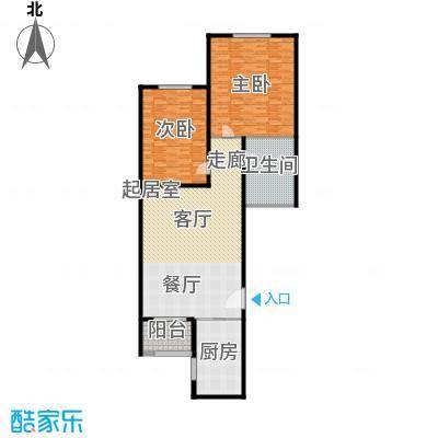 滨海新城E户型2室2厅