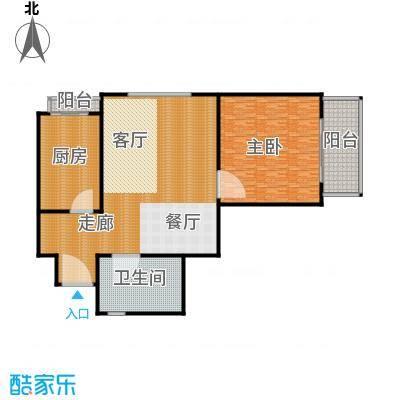 滨海新城A户型1室2厅