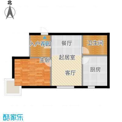 滨海湾A户型1室2厅1卫