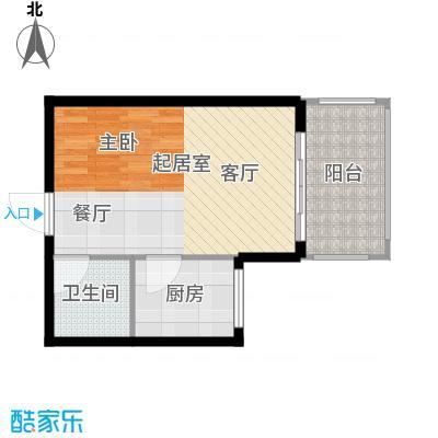 滨海湾J户型1室2厅1卫