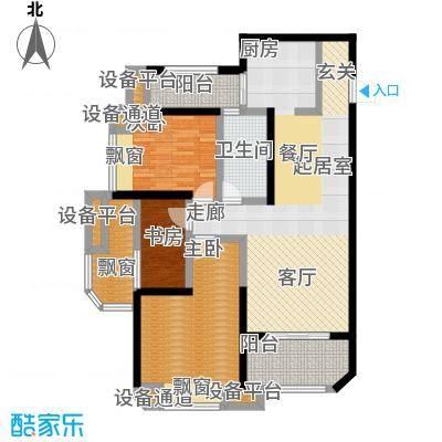 华城泊郡二期102.00㎡17号楼三室两厅一卫102平米赠送16平米B户型3室2厅1卫