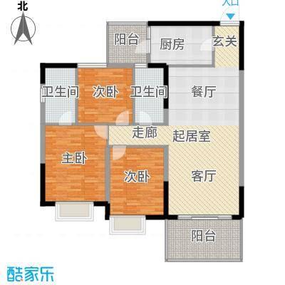 肇庆碧桂园山湖城123.19㎡�居4号楼03户型3室2厅2卫