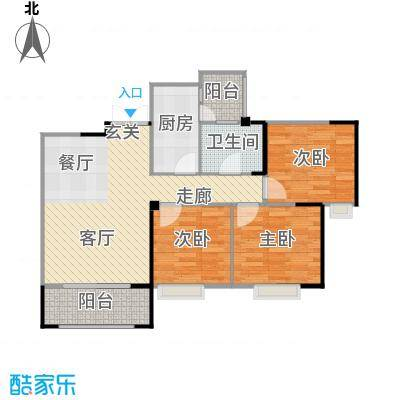 春天印象86.95㎡春天印象2期G4b户型3室2厅1卫