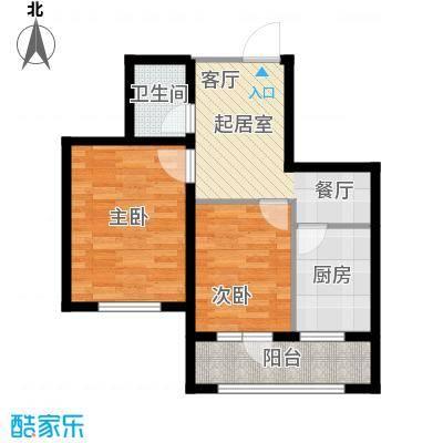 长堤湾69.88㎡高层G3户型2室2厅1卫