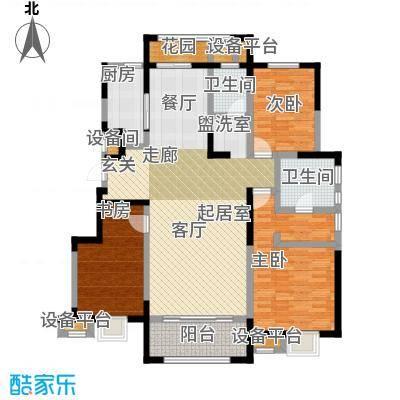 华润仰山・红叶林140.00㎡三室两厅两卫户型3室2厅2卫